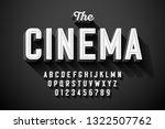 old movie title vintage font... | Shutterstock .eps vector #1322507762