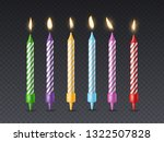 birthday candle. candlelight... | Shutterstock .eps vector #1322507828