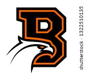 letter b with eagle head. great ...   Shutterstock . vector #1322510135