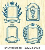 four vector  labels isolated on ... | Shutterstock .eps vector #132251435