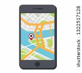 vector gps navigation icon... | Shutterstock .eps vector #1322517128