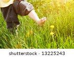 bare foot of child over... | Shutterstock . vector #13225243