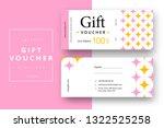 abstract gift voucher card...   Shutterstock .eps vector #1322525258