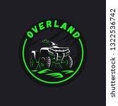 atv vehicle logo. all terrain... | Shutterstock .eps vector #1322536742
