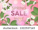 spring sale poster with... | Shutterstock .eps vector #1322537165