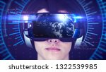 young man wearing vr headset... | Shutterstock . vector #1322539985