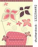 beautiful flowers gift card   Shutterstock .eps vector #132254492