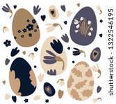 colorful easter eggs doodle set ...   Shutterstock .eps vector #1322546195