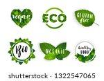 vector eco organic bio logos... | Shutterstock .eps vector #1322547065