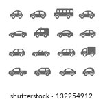 car icons | Shutterstock .eps vector #132254912