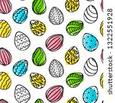 easter seamless pattern with... | Shutterstock .eps vector #1322551928