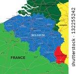 belgium map   Shutterstock .eps vector #132255242