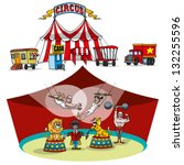 vector circus tent and...   Shutterstock .eps vector #132255596