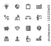business icons | Shutterstock .eps vector #132255605