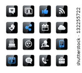 social network icons | Shutterstock .eps vector #132255722