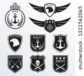 army and military badge and... | Shutterstock .eps vector #1322562065