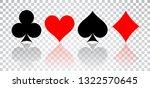 set of hearts  spades  clubs... | Shutterstock . vector #1322570645