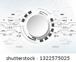 abstract futuristic technology... | Shutterstock .eps vector #1322575025