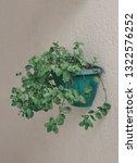 fresh spearmint vase in modern... | Shutterstock . vector #1322576252
