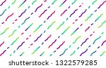 colorful neon dashed lines ... | Shutterstock .eps vector #1322579285