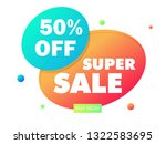 super sale bubble abstract... | Shutterstock .eps vector #1322583695