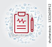 medical report vector icon for... | Shutterstock .eps vector #1322603912