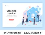 cleaning service with... | Shutterstock .eps vector #1322608055