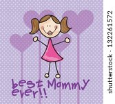 happy mothers day concept ... | Shutterstock .eps vector #132261572