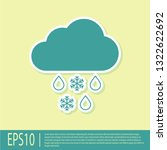 green cloud with snow and rain... | Shutterstock .eps vector #1322622692