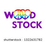 woodstock lettering and hippie... | Shutterstock .eps vector #1322631782
