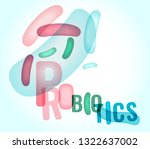 probiotics and prebiotics.... | Shutterstock .eps vector #1322637002
