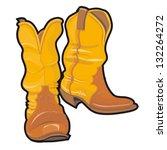 vector illustration of cowboy... | Shutterstock .eps vector #132264272