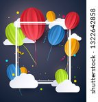 birthday flyer  background or... | Shutterstock .eps vector #1322642858