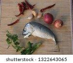 delicious mackerel with... | Shutterstock . vector #1322643065