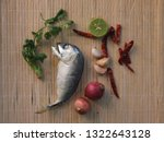 delicious mackerel with... | Shutterstock . vector #1322643128