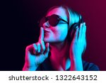surprised pretty woman with...   Shutterstock . vector #1322643152
