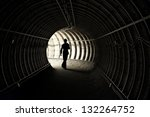 silhouette of workers in mine | Shutterstock . vector #132264752