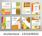 set of a4 cover  abstract... | Shutterstock .eps vector #1322648342