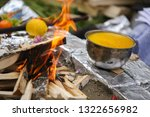 traditional indian yagya  puja  ... | Shutterstock . vector #1322656982