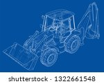 sketch of loading shovel with... | Shutterstock .eps vector #1322661548