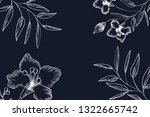 pattern plants and herbs... | Shutterstock .eps vector #1322665742