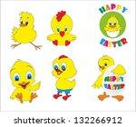 happy easter | Shutterstock .eps vector #132266912
