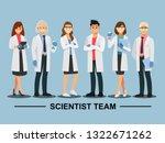 Scientist Teamwork  Vector...