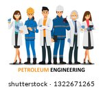 petroleum engineering teamwork  ... | Shutterstock .eps vector #1322671265