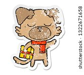 distressed sticker of a cute... | Shutterstock .eps vector #1322671658