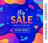 sale web banner with colorful... | Shutterstock .eps vector #1322674412