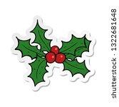 sticker of a cartoon holly   Shutterstock .eps vector #1322681648