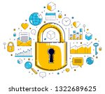 padlock lock surrounded by... | Shutterstock .eps vector #1322689625