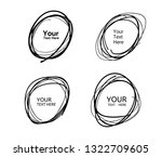 hand drawn circle line sketch.... | Shutterstock .eps vector #1322709605