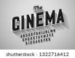 old movie title vintage font... | Shutterstock .eps vector #1322716412